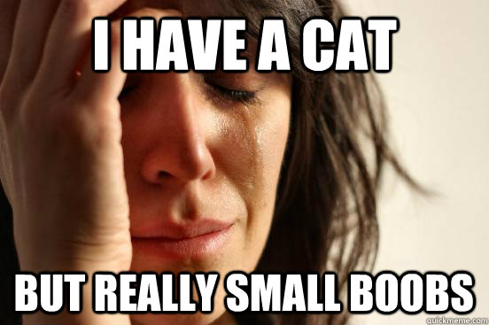 i have a cat but really small boobs - First World Problems