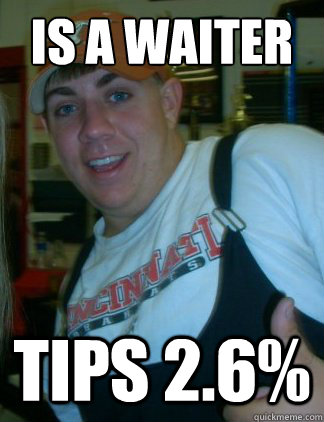 is a waiter tips 26 - Aaron 3