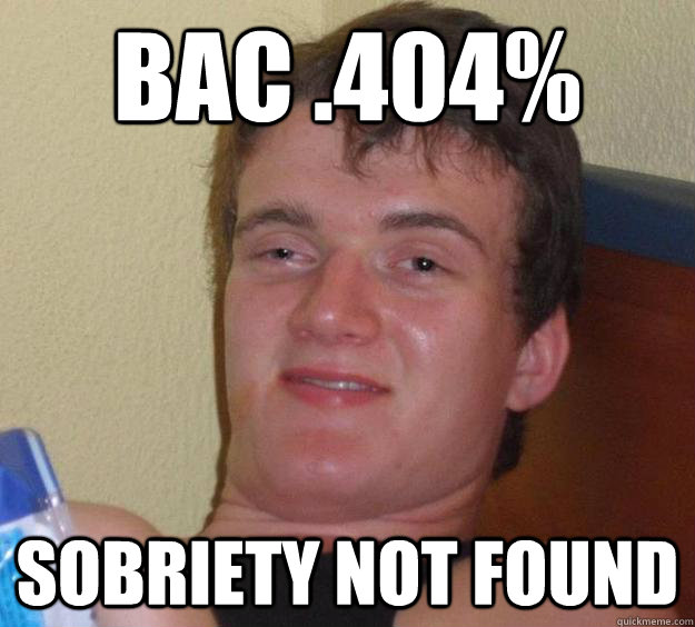 bac 404 sobriety not found - 10 Guy