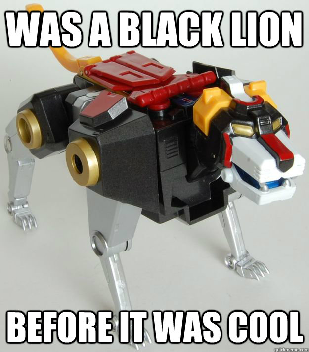 was a black lion before it was cool - Hipster Black Lion