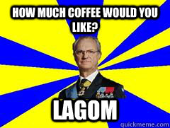 how much coffee would you like lagom - Lika a swede