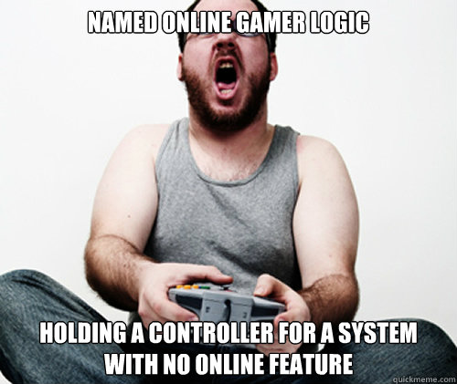 named online gamer logic holding a controller for a system w - Online Gamer Logic