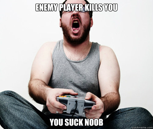 enemy player kills you you suck noob - Online Gamer Logic