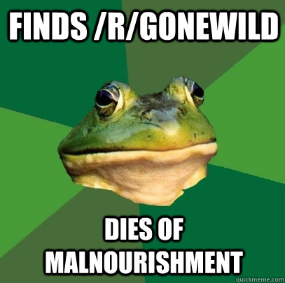 finds rgonewild dies of malnourishment - Foul Bachelor Frog
