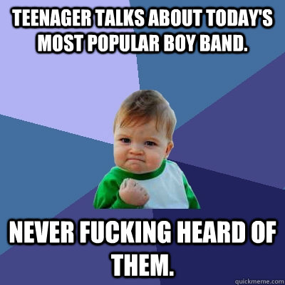 teenager talks about todays most popular boy band never fu - Success Kid