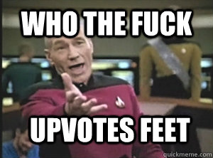 who the fuck upvotes feet - Annoyed Picard