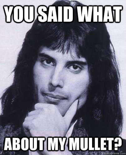 you said what about my mullet - Good Guy Freddie Mercury