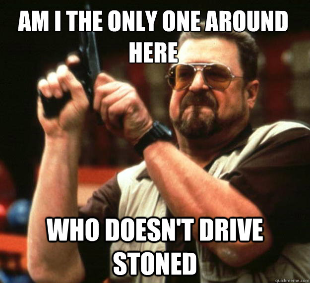 am i the only one around here who doesnt drive stoned - Walter