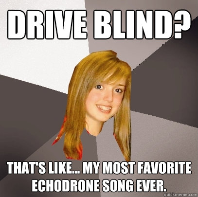 drive blind thats like my most favorite echodrone song  - Musically Oblivious 8th Grader