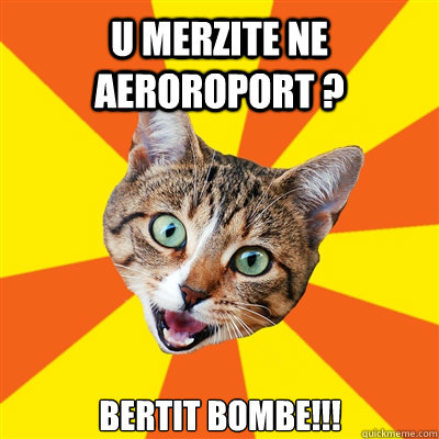 u merzite ne aeroroport bertit bombe - Bad Advice Cat