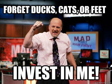 forget ducks cats or feet invest in me - 