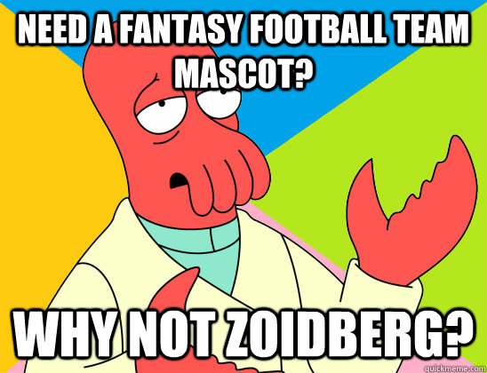 need a fantasy football team mascot why not zoidberg - Futurama Zoidberg