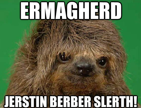 ermagherd jerstin berber slerth - Foreign Exchange Sloth