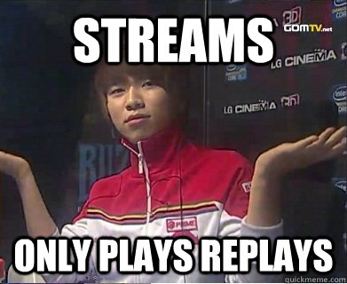 streams only plays replays -