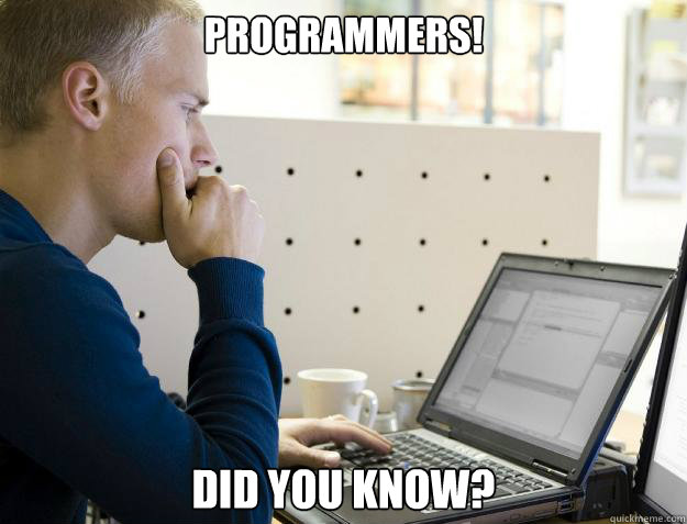programmers did you know - Programmer