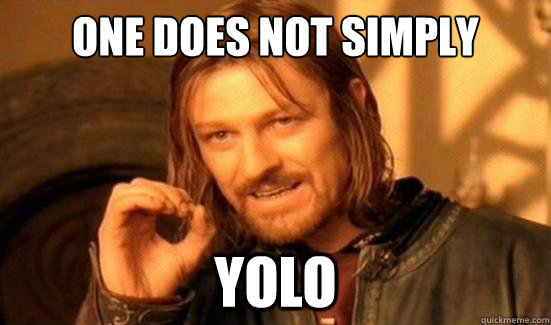 one does not simply yolo - Boromir