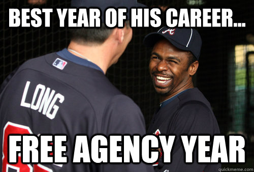 best year of his career free agency year - Good Luck Michael Bourn