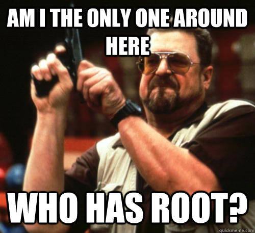 am i the only one around here who has root - Am I The Only One Around Here