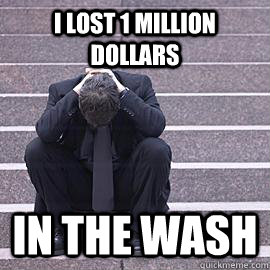 i lost 1 million dollars in the wash - One Percent Problems