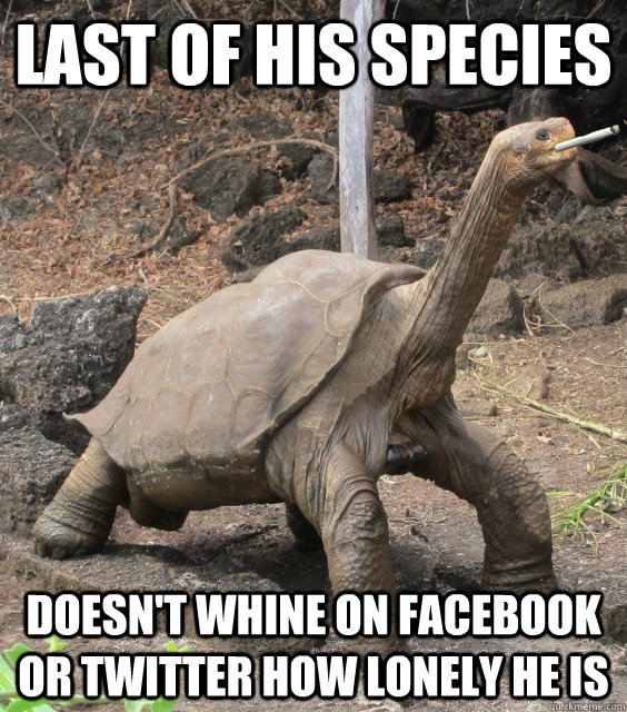 last of his species doesnt whine on facebook or twitter how - Good Guy George