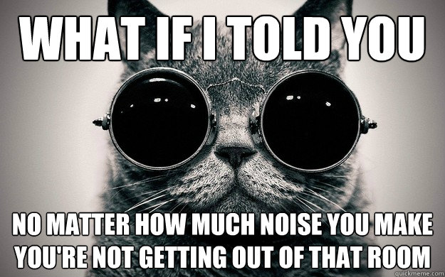 what if i told you no matter how much noise you make youre  - Morpheus Cat Facts