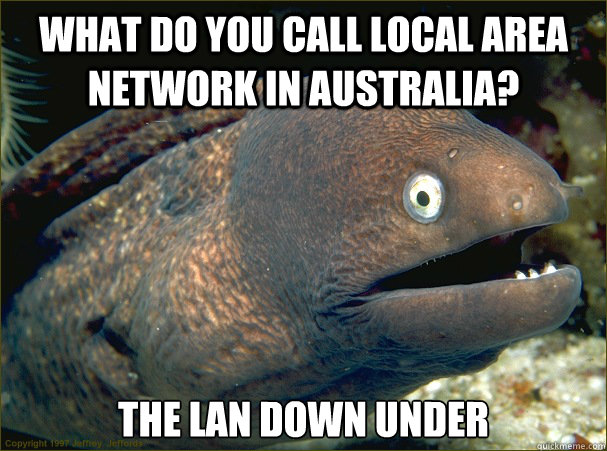 what do you call local area network in australia the lan do - Bad Joke Eel