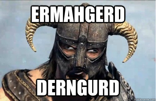 ermahgerd derngurd - Derpy Dovahkiin