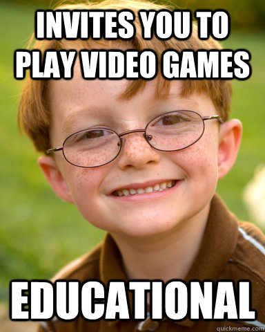 invites you to play video games educational - Disappointing Childhood Friend