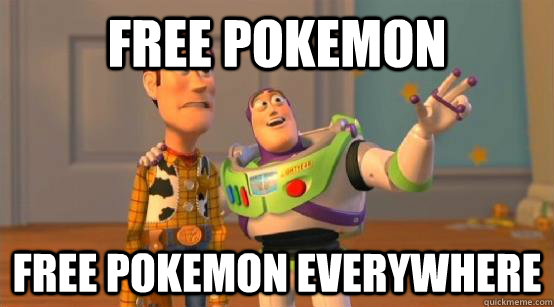 free pokemon free pokemon everywhere - Buzz Glitter