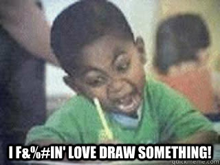 i fin love draw something -