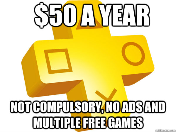 50 a year not compulsory no ads and multiple free games -