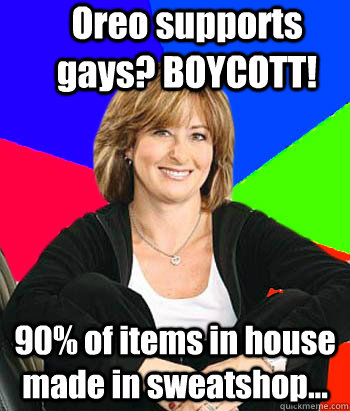 oreo supports gays boycott 90 of items in house made in s - Sheltering Suburban Mom