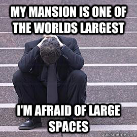 my mansion is one of the worlds largest im afraid of large  - One Percent Problems