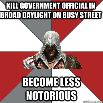 kill government official in broad daylight on busy street be - Counterintuative Assassin