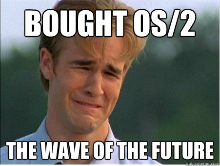 bought os2 the wave of the future - 1990s Problems