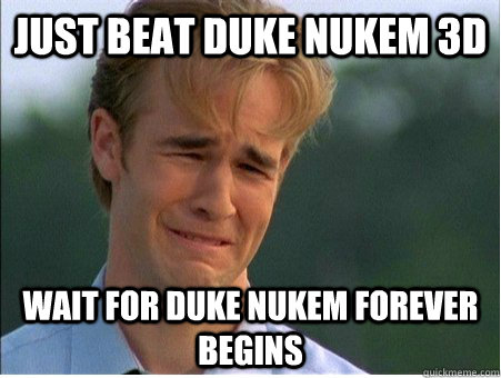 just beat duke nukem 3d wait for duke nukem forever begins - 1990s Problems