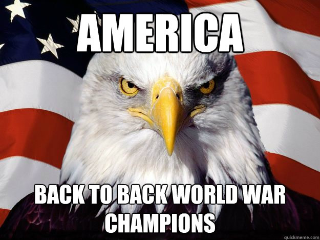 america back to back world war champions - America!