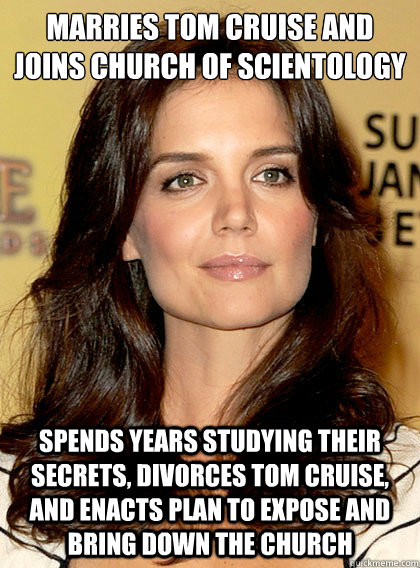 marries tom cruise and joins church of scientology spends ye - Smart Katie Holmes