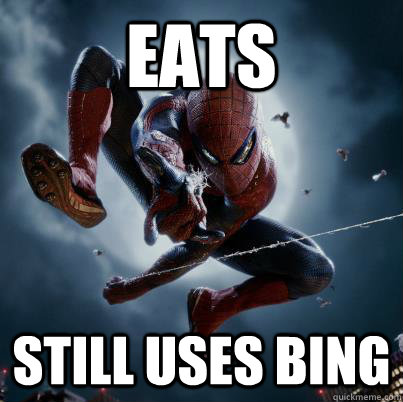 eats still uses bing - The Amazing Spider-man  Bing
