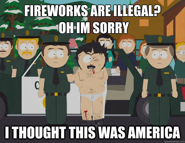 fireworks are illegal oh im sorry i thought this was ameri - Oh Im Sorry