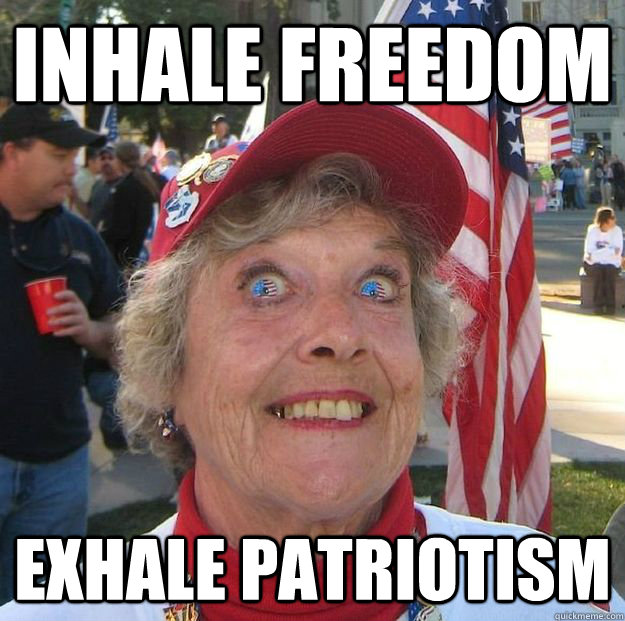 inhale freedom exhale patriotism - Freedom Granny