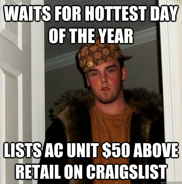 waits for hottest day of the year lists ac unit 50 above re - Scumbag Steve