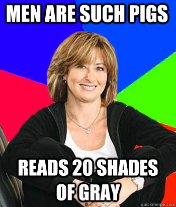 men are such pigs reads 20 shades of gray - Sheltering Suburban Mom