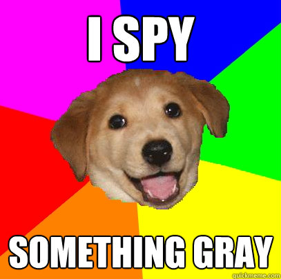 i spy something gray - Advice Dog