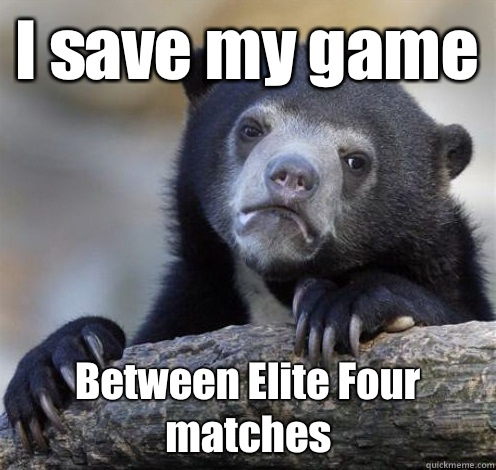 I save my game this meme - Confession Bear Eating