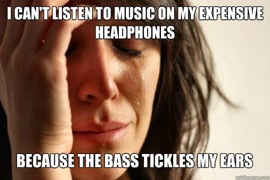 i cant listen to music on my expensive headphones because  - First World Problems
