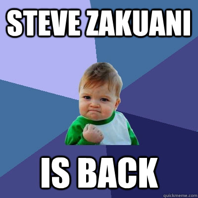 steve zakuani is back - Success Kid