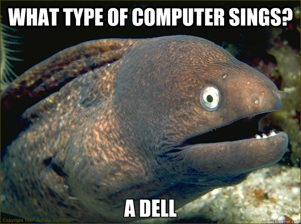 what type of computer sings a dell - Bad Joke Eel