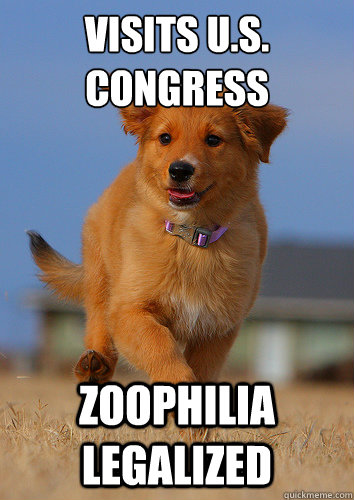 visits us congress zoophilia legalized - Ridiculously Photogenic Puppy