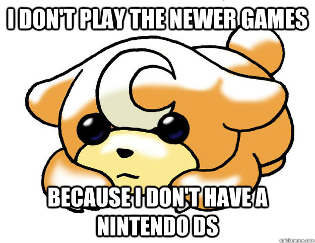 i dont play the newer games because i dont have a nintendo - Confession Teddiursa